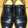 紳士靴のヒールトップリフト交換とハーフソール補強