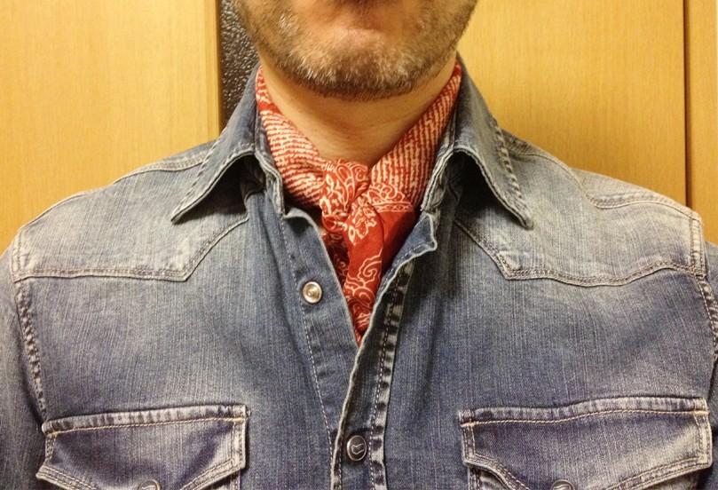 スカーフの折り方