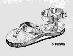 Teva(テバ)のストラップ付きスポーツサンダル