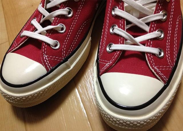 CONVERSEの1970s復刻チャックテイラー(Crimson)