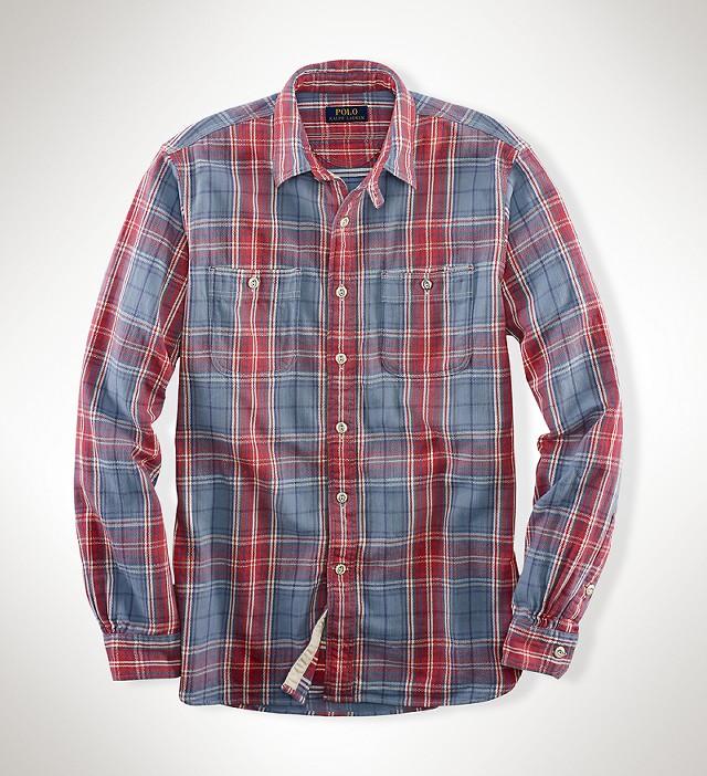 ラルフローレンの「プラッドコットンツイルワークシャツ」