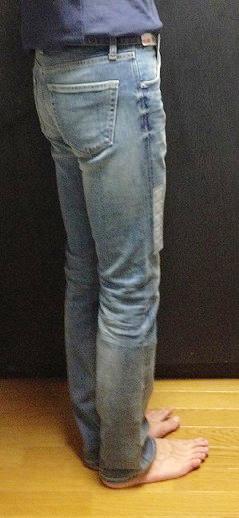 ユニクロのセルビッジスリムフィットストレートジーンズ