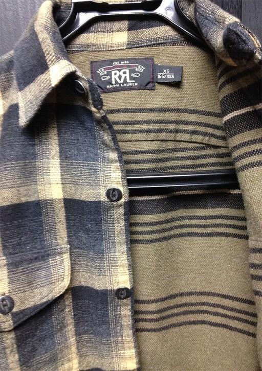 RRLの「プラッド コットン ワークシャツ」
