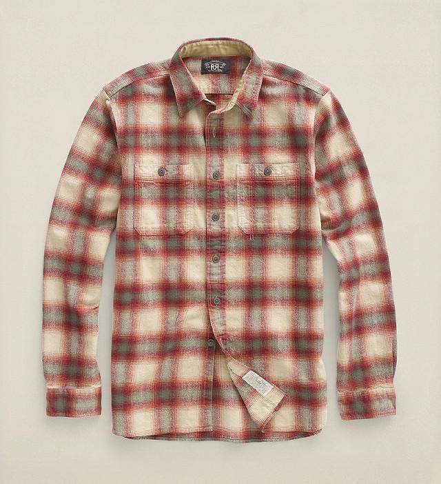 RRLの「プラッド コットンツイル ワークシャツ」