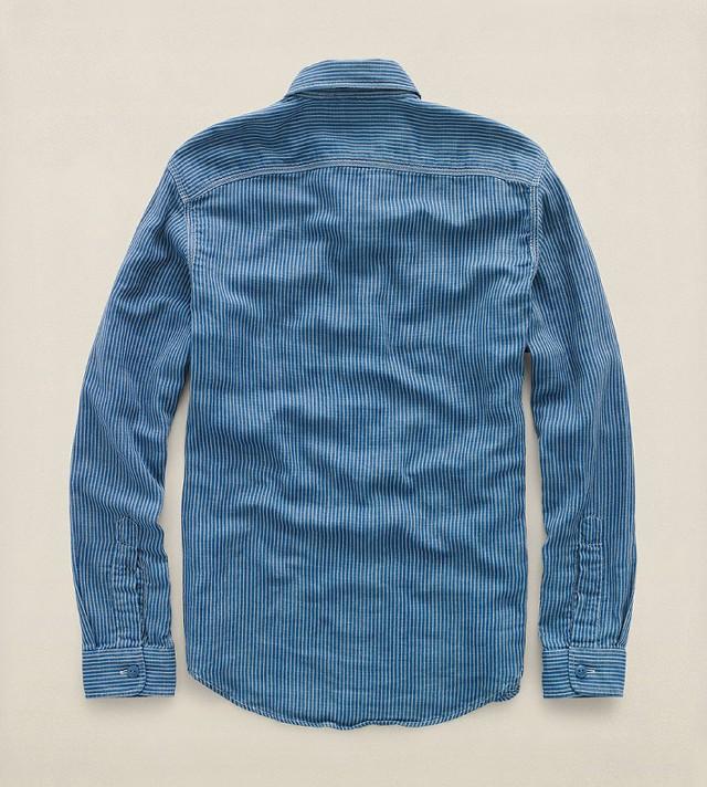 RRLの「ストライプド コットン ワークシャツ」