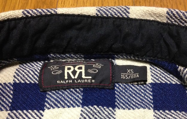 RRLの「チェックドコットンCPOシャツ」