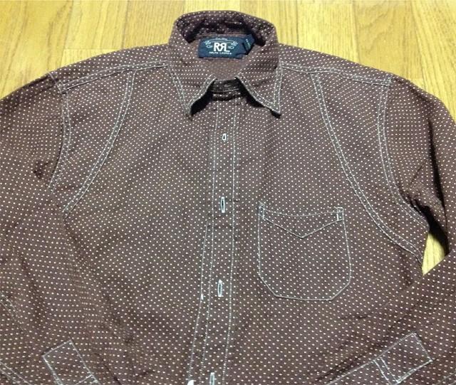 RRLの「プリンテッド リネンコットン ワークシャツ」