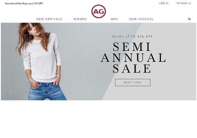 米国AGオンラインショップで50%オフセール中