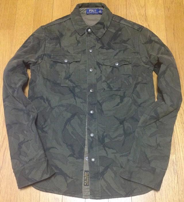 ラルフローレンの「キルティッドカモフラシャツ」