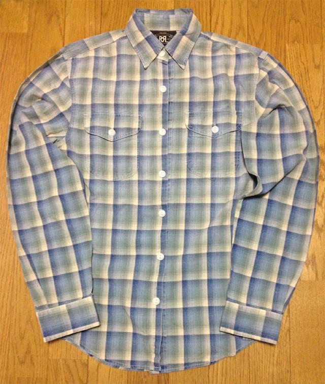 RRLの「チェックドコットンワークシャツ」
