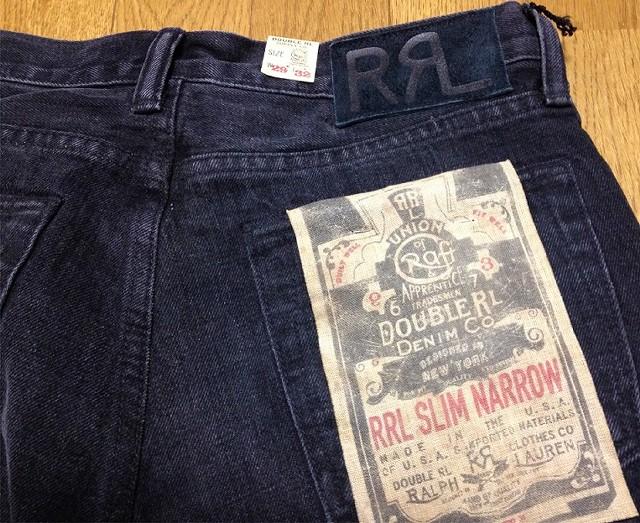 RRLの「スリムナローセルビッジジーンズ」