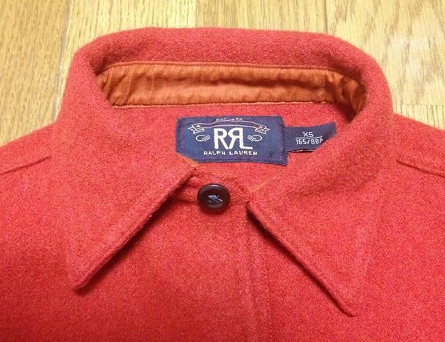 RRLの「ウールブレンドツイルワークシャツ」
