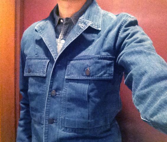 RRL「インディゴ コットン オーバーシャツ」