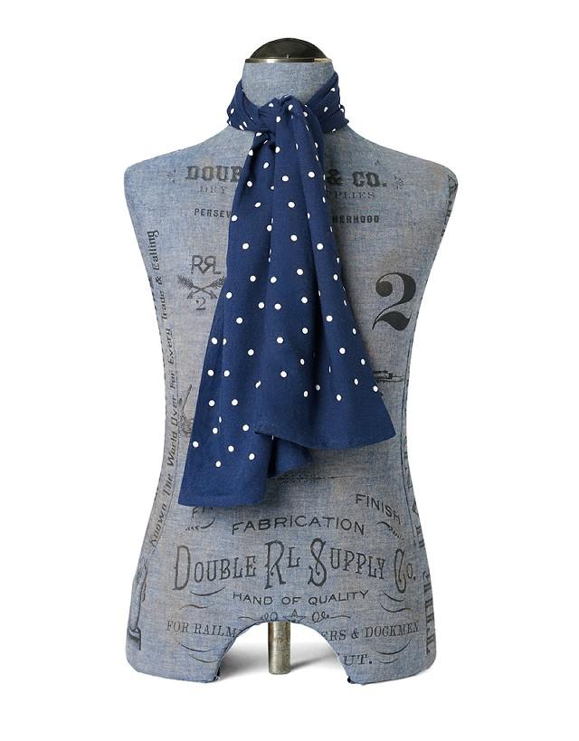 RRLの「ポルカドット メイフェア スカーフ」