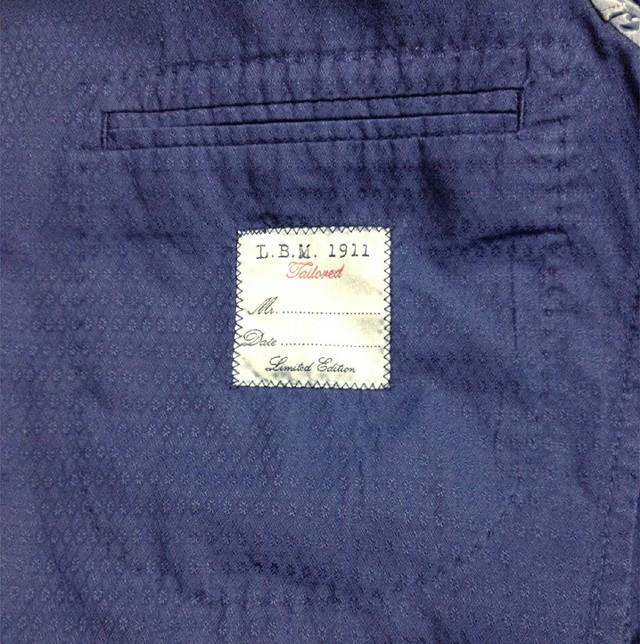 L.B.M.1911のテーラードジャケット(ネイビー)
