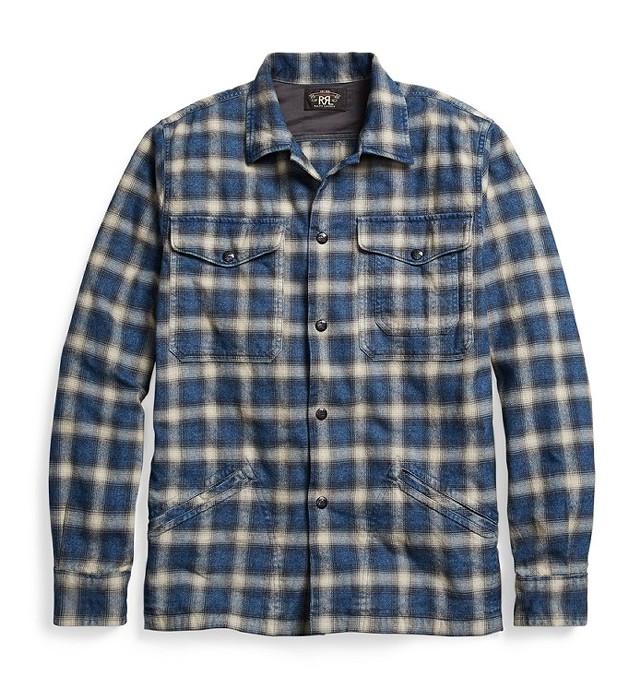 RRLの「プラッドコットンオーバーシャツ」