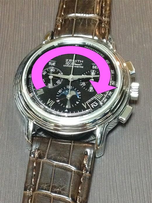 機械式腕時計でカレンダー変更してはいけない時間帯