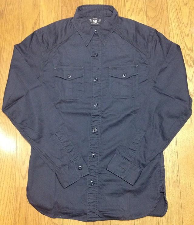 RRLのワークシャツ(黒)