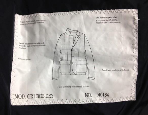 ASPESIのダウンジャケット