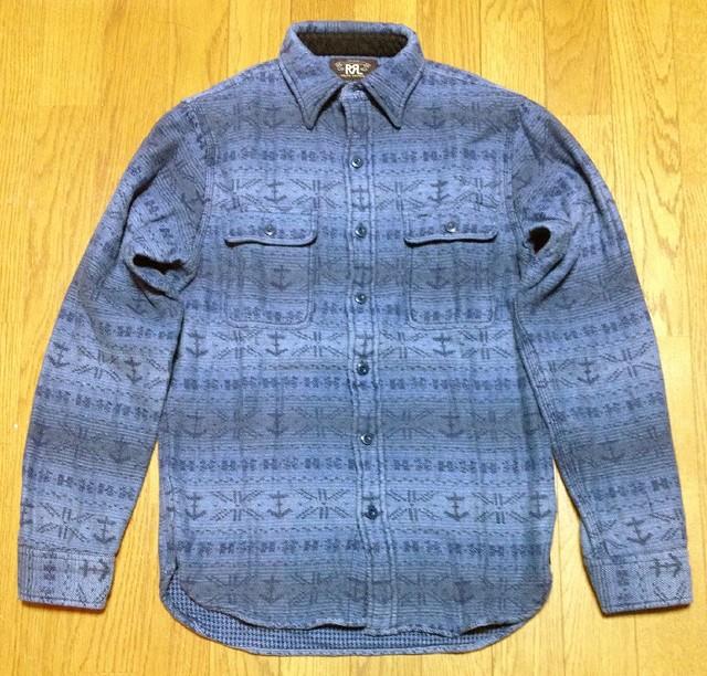 RRLのマットロック コットンウール ワークシャツ