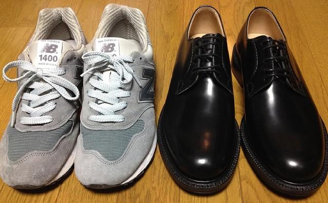 スニーカーはビジネスシューズ(紳士・婦人靴)よりちょっと大きいサイズを選ぶ
