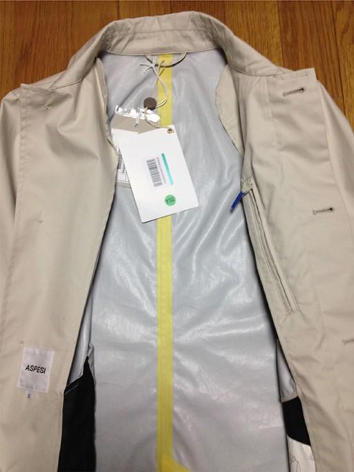 ASPESIのステンカラーコート