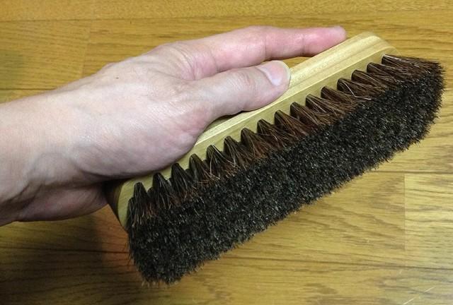 靴のホコリ落とし用ブラシ「コロンブスブラシ 馬毛」