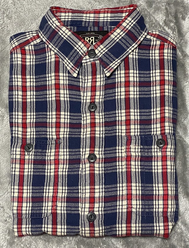 RRLの「プラッド ツイル ワークシャツ」
