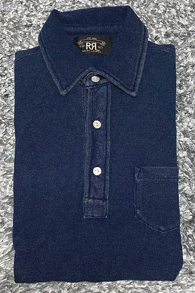 RRLの「インディゴコットンポケットポロシャツ」